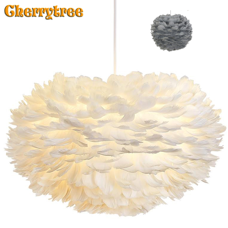 Feather Pendant Lights Hanglamp Pendant Lamp Nordic Design Lustre Vintage Loft Decor Dining Room Kitchen Home Light Fixtures LED