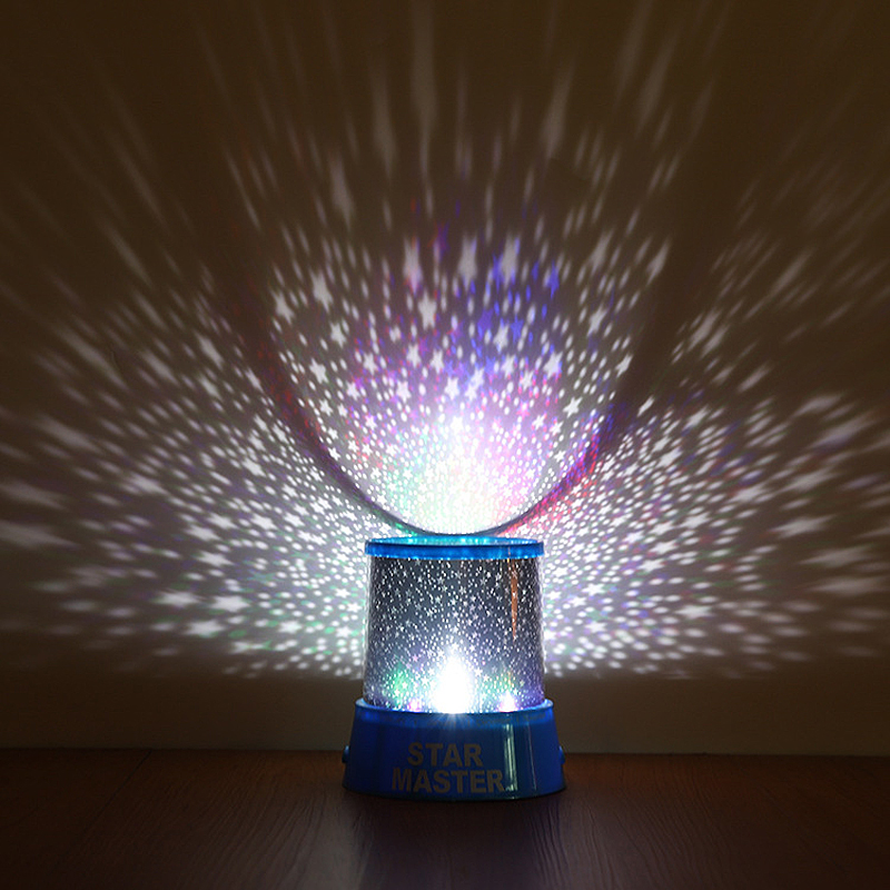 LED Star Projector Lamp RGB Night Light Children's Birthday Gift Couple Romantic Atmosphere Lights Novelty Colorful Lights