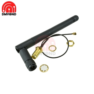 2. 4G Wireless WIFI Module SMA Antenna 2dB 2. 5dB Gain for NRF24L01 11CM Antenna Rod + 20CM PA CC2500 IPX Adapter Cable Connector