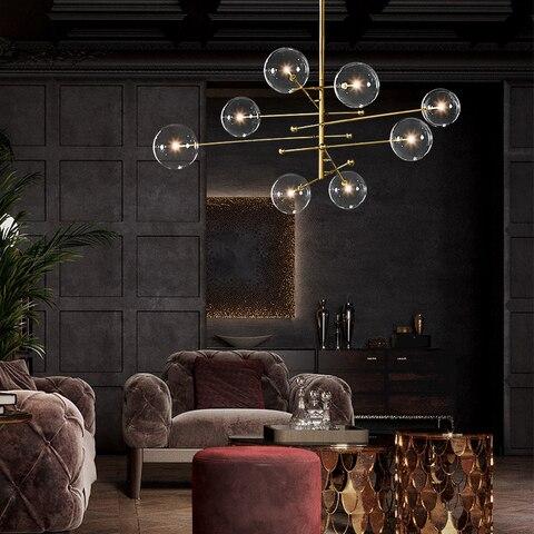 bolha de vidro moderno lustre lampada para