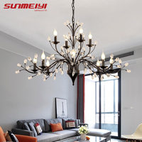 Modern Bedroom Chandeliers Lighting For Living room Kitchen Dining Restaurant Bar Nordic LED Industrial Chandelier Crystal Lamp