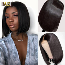 BAISI Brazilian Bob Wig Lace Front Human Hair Wigs For Women 4x4 Lace Closure Wig Straight Lace Front Wig T Part Lace Bob Wigs