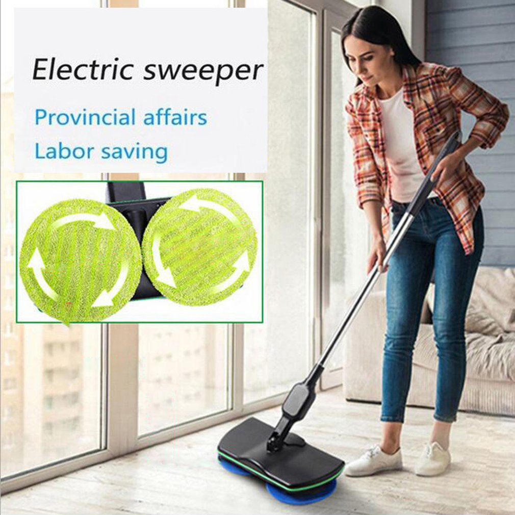 Household Wireless Electric Hand Push Sweeper Microfiber Automatic Mop Machine Rechargeable Cleaning Pad Home Floor Clean Tool