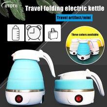 Uso doméstico de viagem chaleira dobrável portátil água fervente chaleira elétrica casa durável silicone dobrável