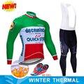 2019 быстрый шаг зима термальный флис Велоспорт Джерси Майо Ropa Ciclismo MTB велосипед одежда Теплый велосипед одежда Велоспорт Набор