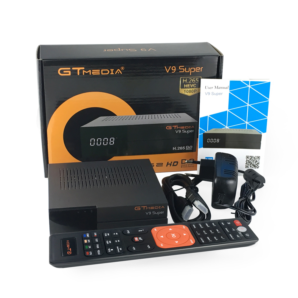 GTmedia DVB T2 Receptor H 265 with 1 year Cccam Support Newcam USB Built in WIFI decoder V9 Super satellite receiver in Satellite TV Receiver from Consumer Electronics