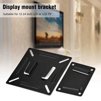Universal TV Mount Wall-mounted Fixed Flat Panel Bracket Holder for 14-26 Inch LCD LED Monitor TV Frame VESA 75/100 LCD LED TV image