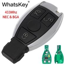 WhatsKey 5Pcs 3 Buttons Car Smart Remote Key For Mercedes Benz 2000+ NEC&BGA Chip 315/433MHz MB E W211 W203 W204 W212 W221 CLK цена в Москве и Питере