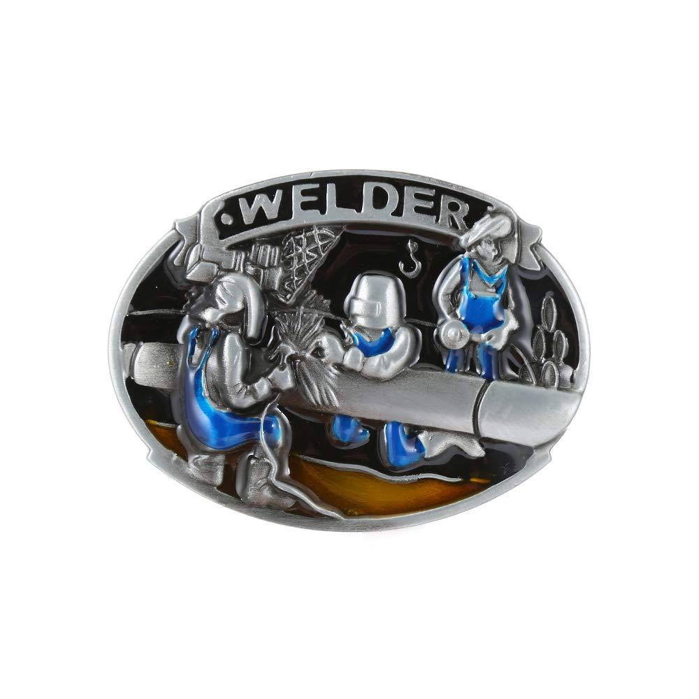 WELDER WORKER  Belt  Buckle For Woman Western Cowboy Buckle Without Belt Custom Alloy Width 4cm