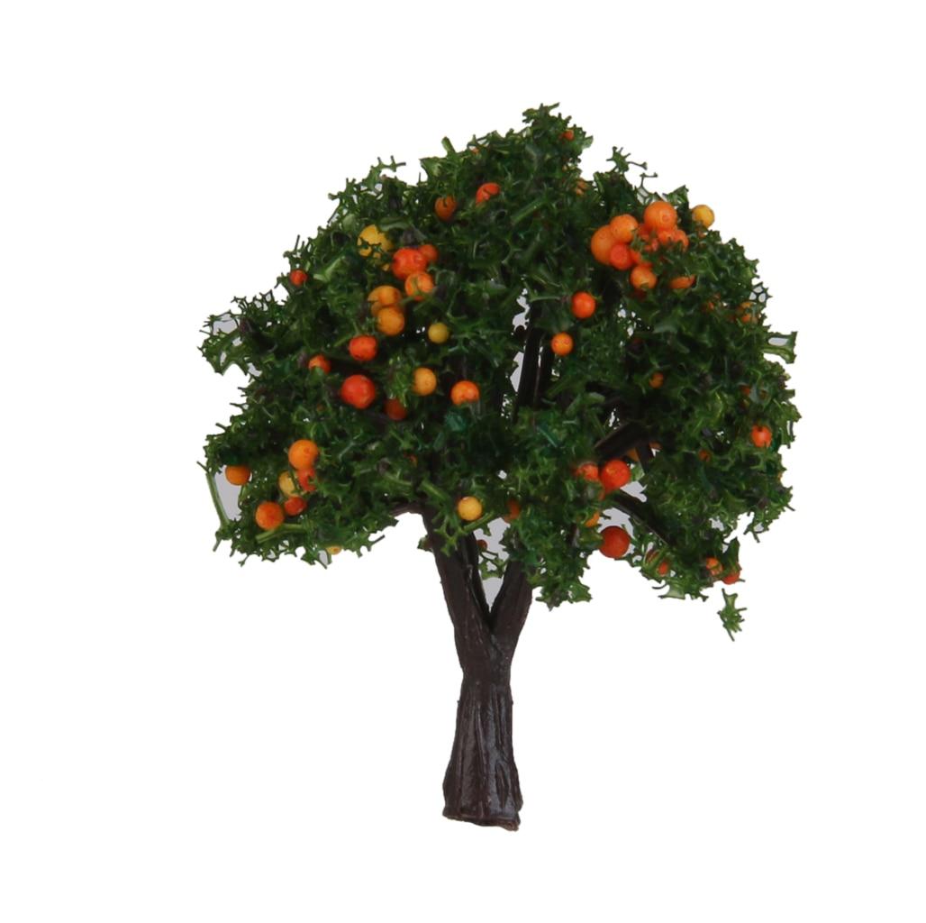 20x 1/300 escala de árvores modelo de paisagem para decorações de diorama de pomar ferroviário