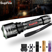 Supfire T10 LED High Power Bicycle Light Travel Climbing Tactical Searchlight USB Rechargeable Work Fishing Flashlight Torch