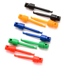 10x красочные свинцовые провода кабель Комплект Электронный мультиметр тест крюк зажим тестовый зонд с захватом SMT/SMD измерительные инструменты