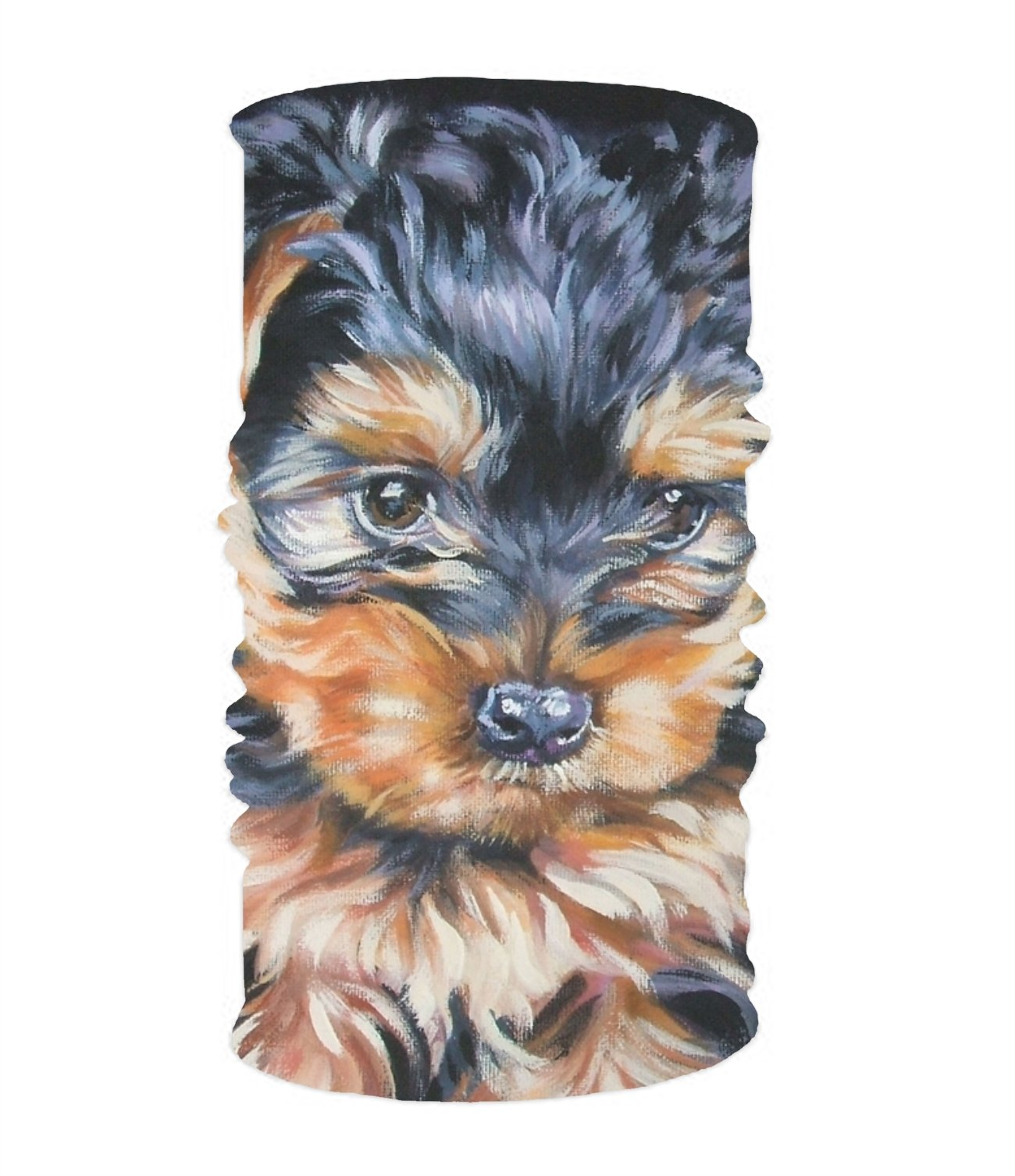 Efyh Little Yorkie Dog Magic Scarf Works As Face Scarf Neck Gaiter Headband Balaclava