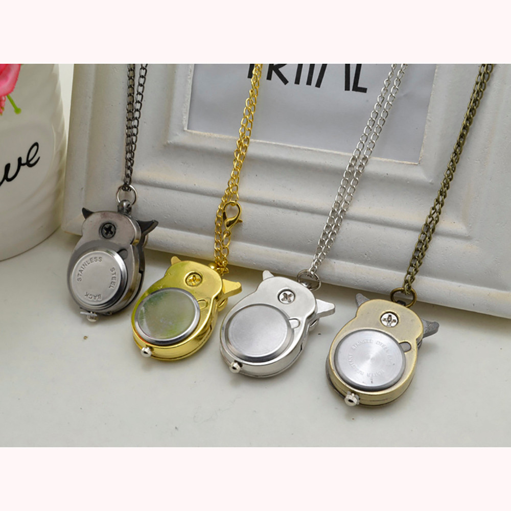 H6a0a531cdc58463bb853e5fe8045b2a43 - Pocket Watch Vintage Style Retro Slide Owl Pendant Long Necklace Analog Pocket Watch Gift Bundy Party Watch gift