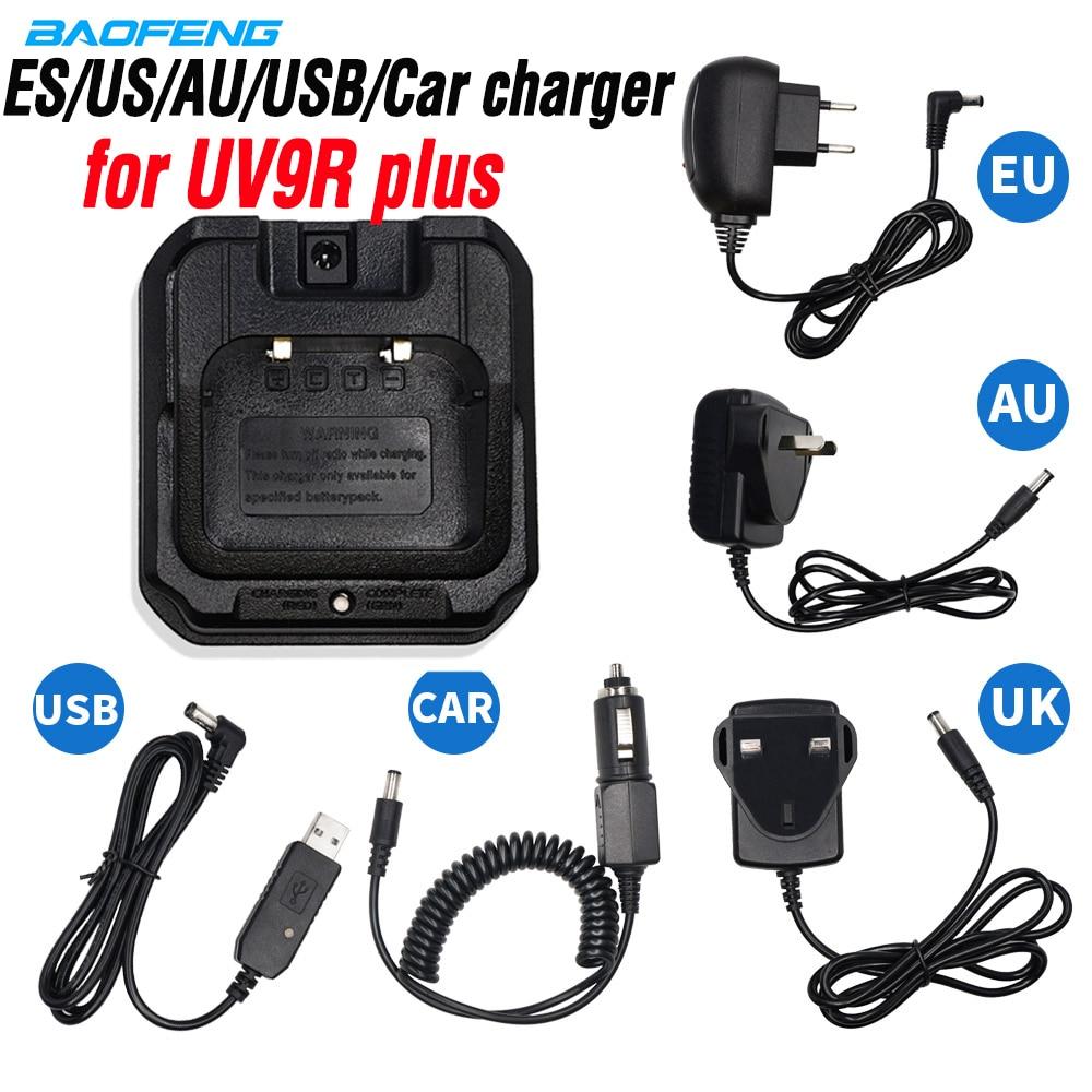 Original Baofeng UV-9R Plus EU/US/UK/AU/USB/Car Battery Charger For Baofeng Uv 9r Plus UV9R Walkie Talkie Waterproof Ham Radio