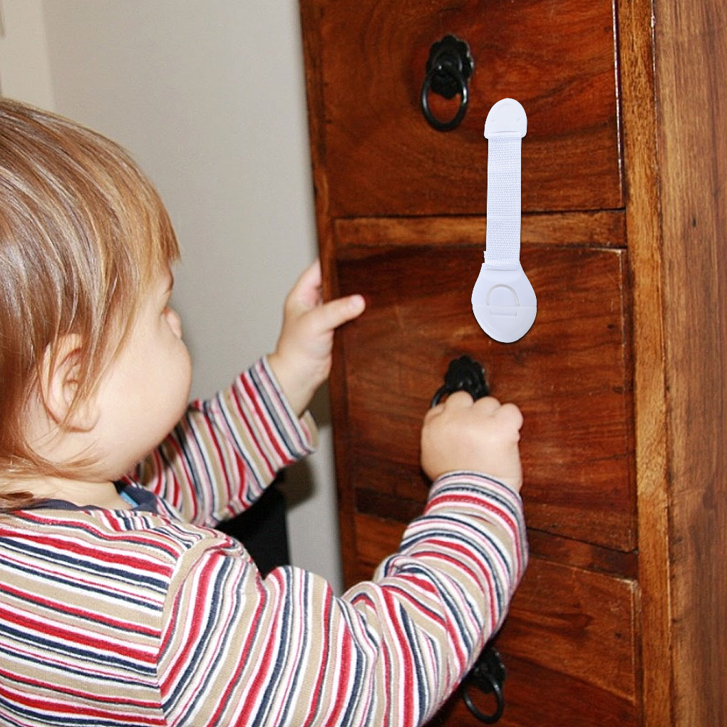 Baby Safety Protection Drawer Door Cabinet Cupboard Toilet Locks Kids Safety Care Plastic Locks Straps Infant Baby Lock