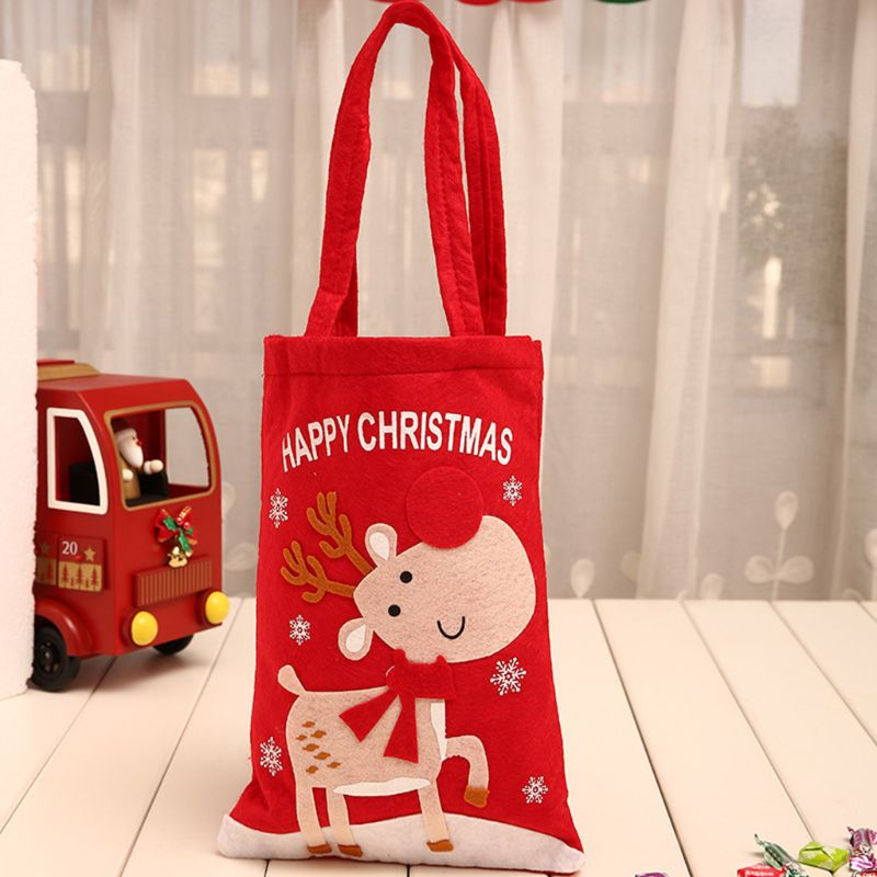 Christmas Candy Holder Storage Handle Bag Xmas Party Favors Gift Decoration X5XA