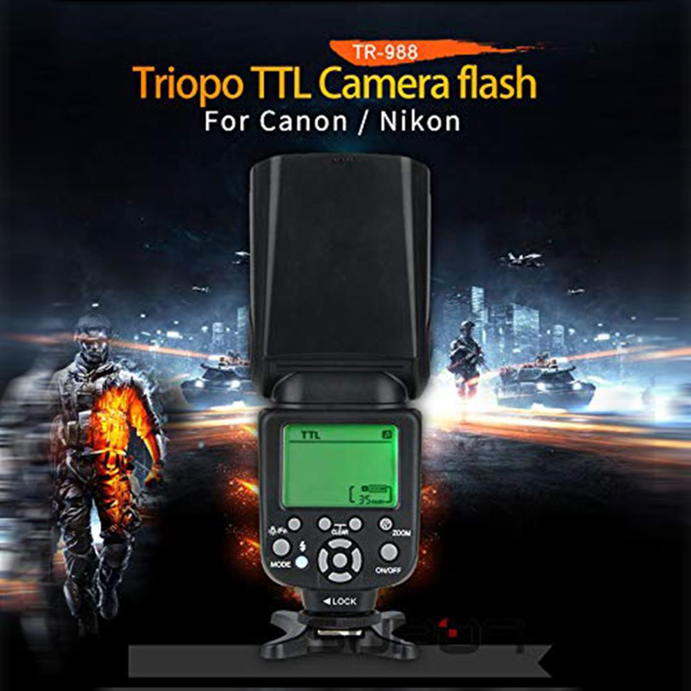 Image 2 - TRIOPO TR 988 Flash Professional Speedlite TTL Camera Flash with 
