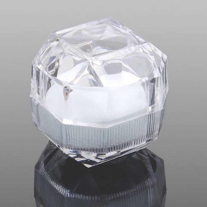 1 جهاز كمبيوتر شفاف القرط حلقة عرض صندوق تخزين منظم صندوق مجوهرات الزفاف حامل حزمة صناديق تخزين الهدايا