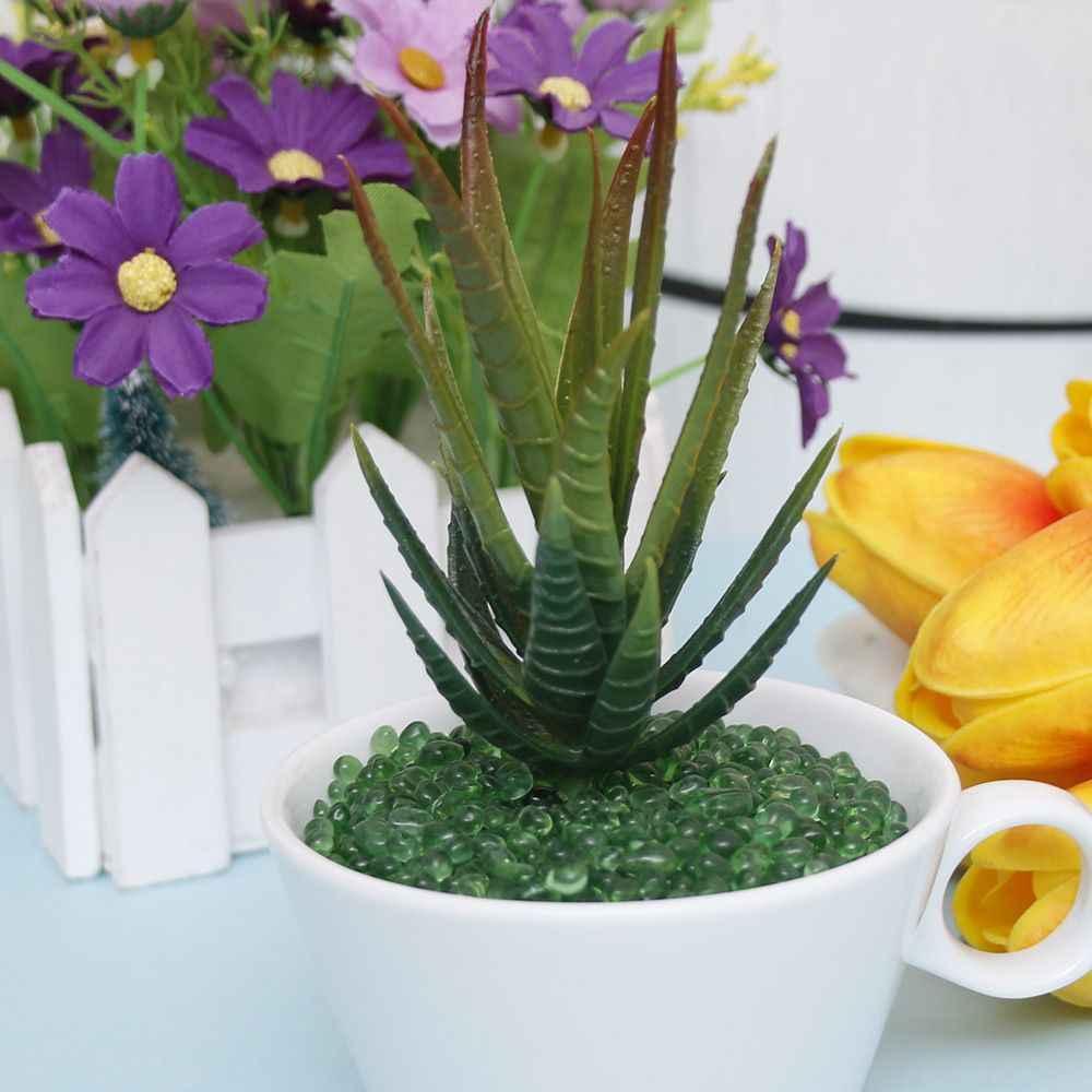 Suef sortidas realista verde falso plantas suculentas artificiais aloe folhagem falso plástico verde cacto casa decoração do jardim @ 2