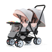 Twin Baby Stroller Lightweight Foldable Double Seat Cart Can Sit And Lie  Portable Newborn Carriage Travel Stroller