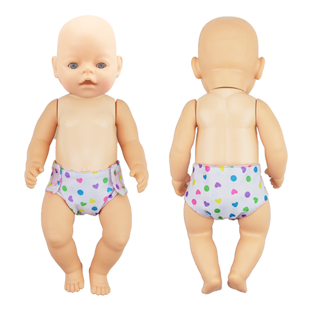 Hot Doll Mini Underwear Bibs Baby Clothes For 18'' Doll Diaper Handmade DIY Toy Fit For 43cm Doll Toy Clothes Accessories