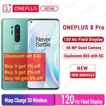 Retailer Prijs Global Firmware Oneplus 8 Pro 5G Smartphone 6.78 Inch Snapdragon 865 Octa Core Android 10 30W 120Hz Nfc