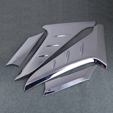 DWCX 4pcs ABS Chrome Rear Window Beveled-edge Side Wing Spoiler Triangle Cover Decor Trim Sticker Fit for Hyundai Kona 2018 2019