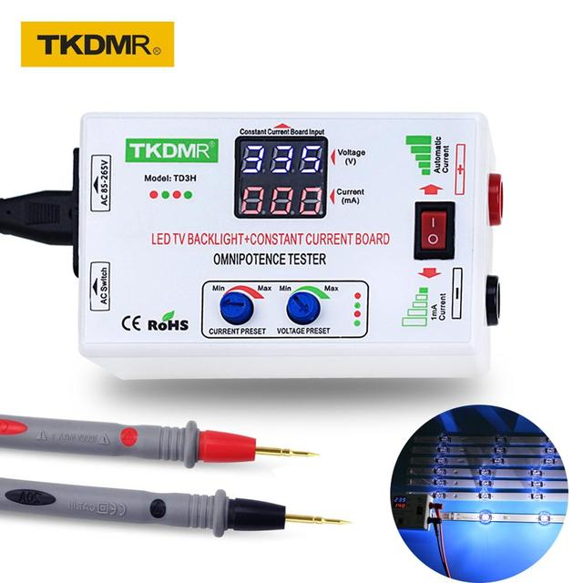 TKDMR Luz LED de fondo para TV, ajuste Manual de ajuste inteligente de 0 330V, comprobador de retroiluminación LED de voltaje ajustable de corriente, Cuenta de lámpara LED de placa controladora CC