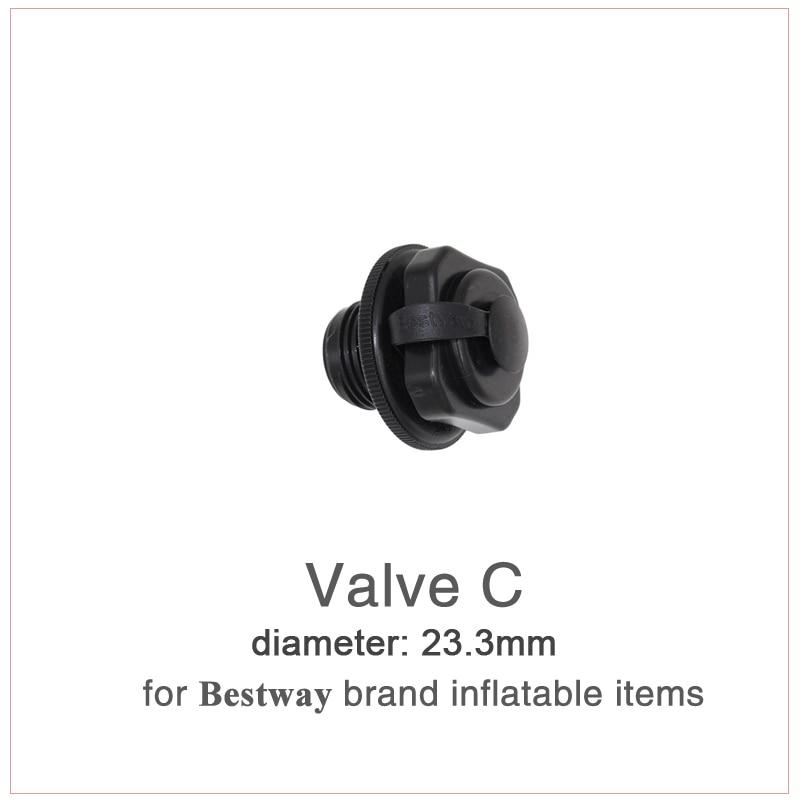 Black 1pcs Seal Air Nozzle Valve Cap Screw Bestway Airbeds Inflatable Boat Rafts