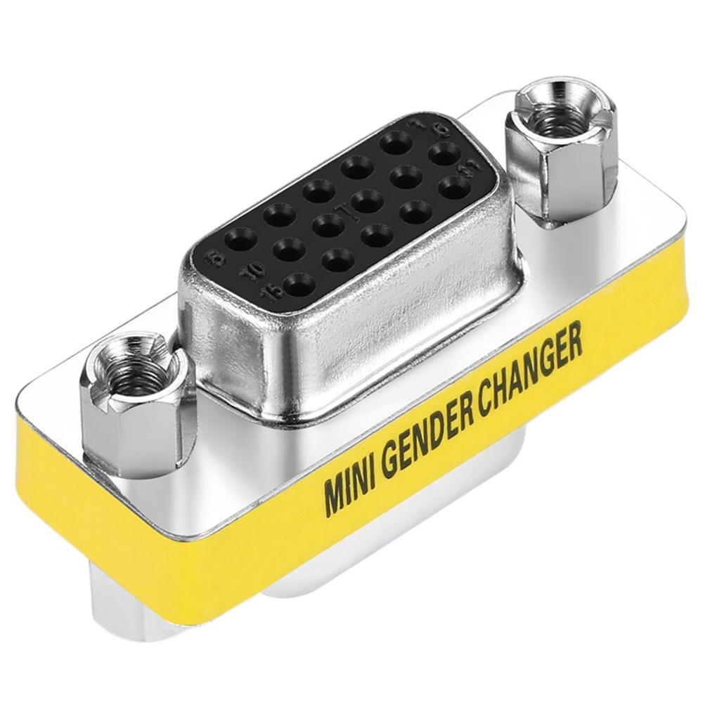 VGA to VGA Female to Female VGA HD15 Pin Gender Changer Convertor Adapter VGA HD15 Pin Gender Changer Convertor Adapter