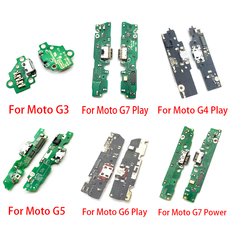 10Pcs/Lot,Dock Connector Mic USB Charger Charging Port Flex Cable For Motorola Moto G3 G5 G4 G6 G7 Play One Vision Action Power