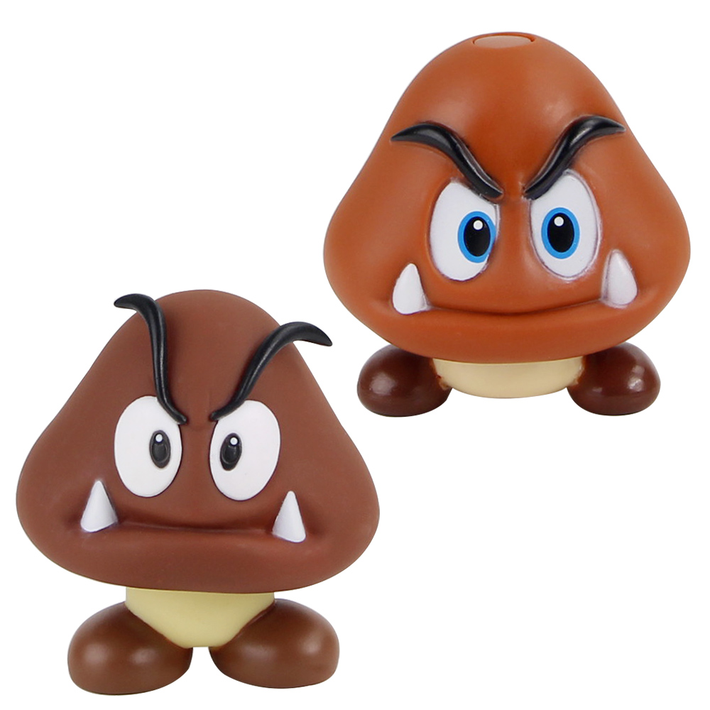 7 8cm Super Mario Bros Goomba Mini Figure Toys Cute Mushroom Pvc