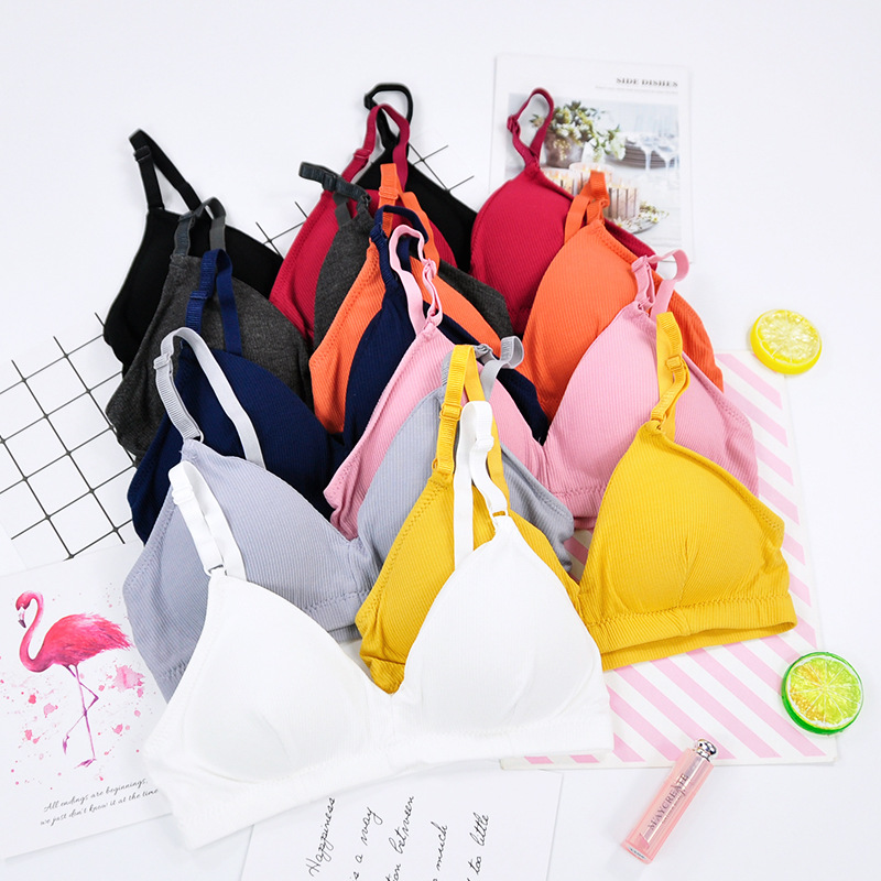 Training Bras Young Girls Underwear Candy Color Vest Sports Bra Teenage Girl Underwear Bras For Teens Kids Young Girls Lingerie