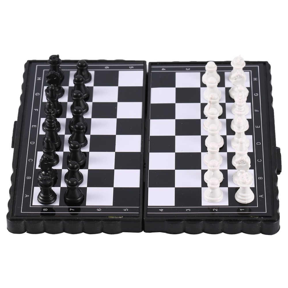 1 セットミニチェス折りたたみ磁気プラスチックチェスボードゲームポータブル子供のおもちゃ 2019 ドロップシッピング