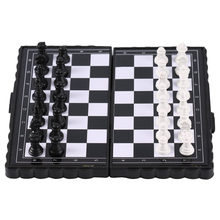 1 Set Mini Chess Folding Magnetic Plastik Papan Catur Papan Permainan Portable Mainan Anak 2019 Drop Pengiriman(China)