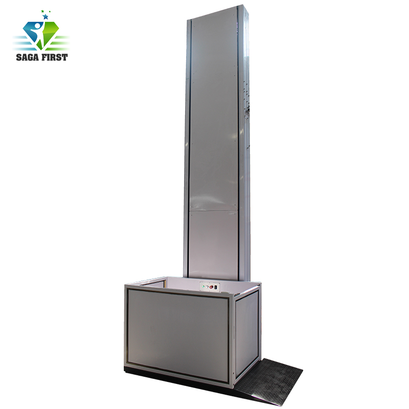 1 - 8m Wheelchair Lift For Disabled People / Home Use Small Elevator