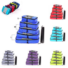 Nylon Travel Bag Organizer Hand Luggage Practical Woman Foldable Large Capacity Men Women Travel Bag Set Packing Cubes
