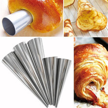 TTLIFE 5Pcs/lot DIY Baking Cones Horn Pastry Roll Cake Mold Tubes Cookie Dessert Kitchen Tool Spiral Baked Croissants