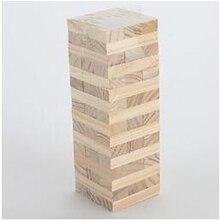 Деревянный штабелирование качающаяся башня игра как Дженга дети семья традиционная доска MIS 95AE