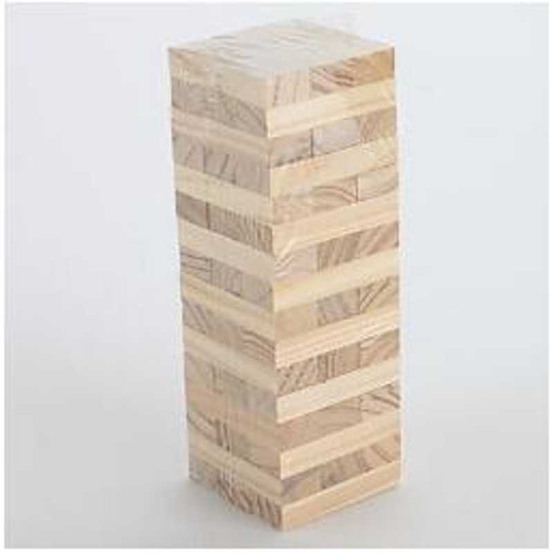 Houten Stapelen Tumbling Tower Game Zoals Jenga Kids Familie Traditionele Board Nieuwe MIS 95AE