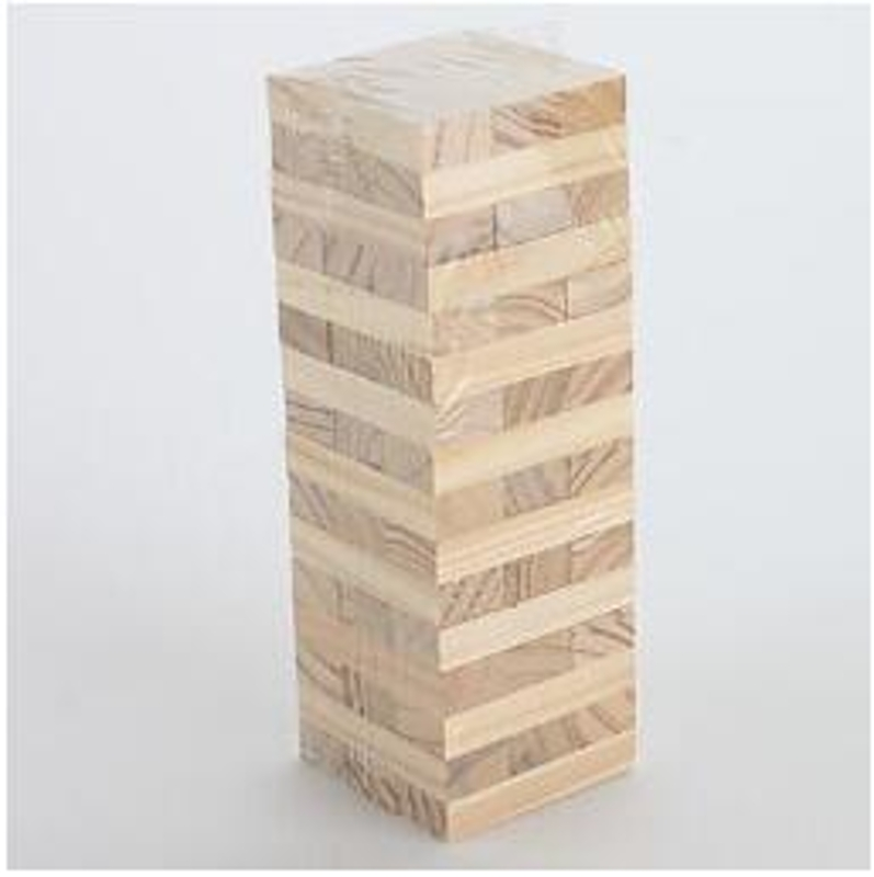 Wooden Stacking Tumbling Tower Game Like Jenga Kids Family Traditional Board New MIS 95AE