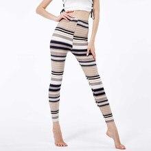 YRRETY – legging à rayures pour femme, vêtement de sport décontracté, imprimé, Slim, taille haute, Sexy, XXXL