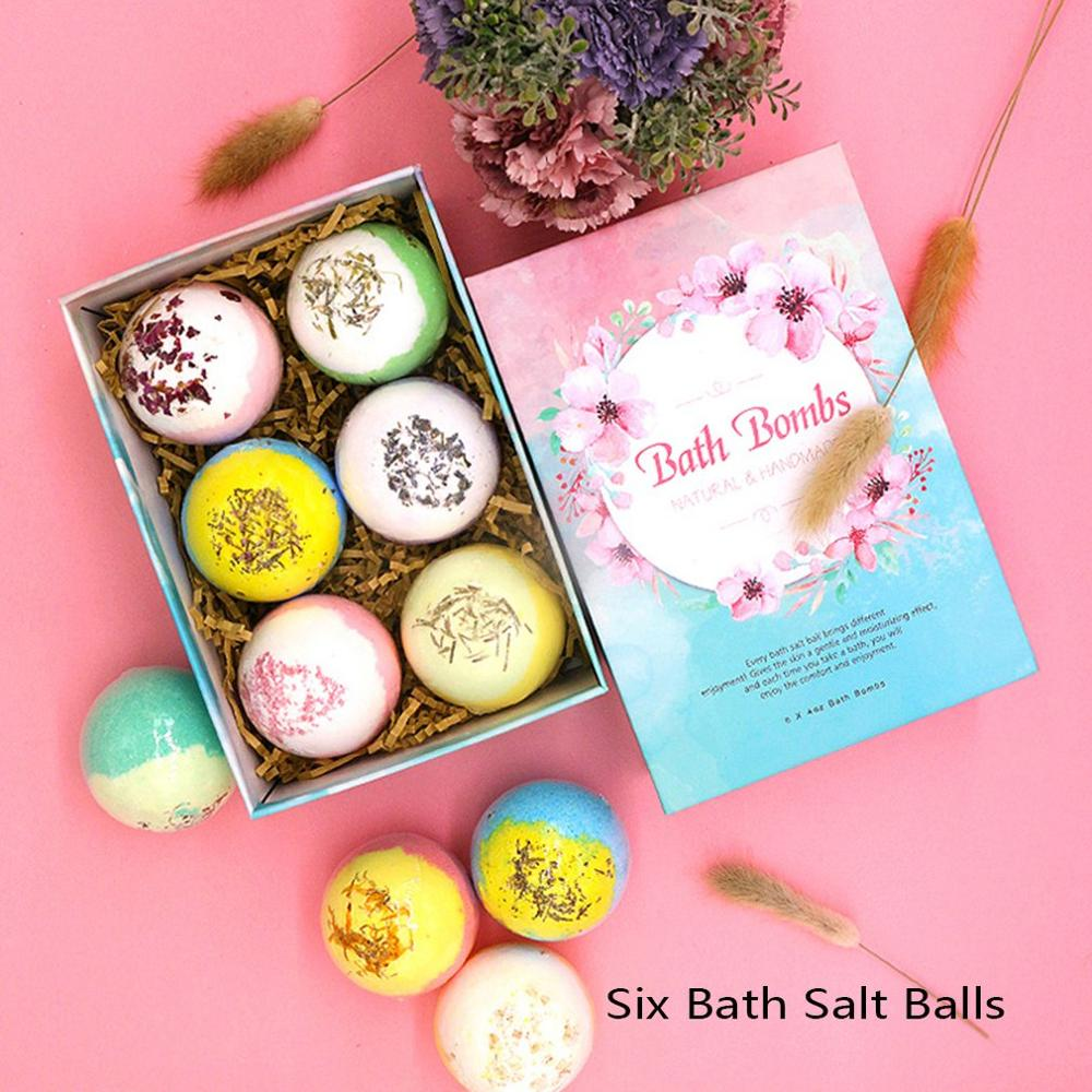 Монохромный мяч подарок коробка с ароматерапия эфирное масло масло ванна эфирное масло масло взрыв мяч молоко ванна соль мяч