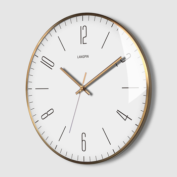 Quartz Silent Wall Clock Nordic Simple Vintage Rose Gold Wall Clock Simple For Bedroom Reloj Mural Household Products YY60WC