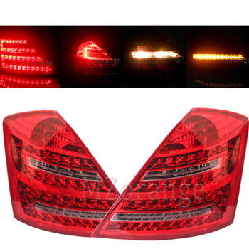 Fast Shipping LED Rear Tail Light for Mercedes-Benz W221 S-Class 2007 2008 2009 Signal Strop Braking Warnig Lamp Reflector Car carbon fiber rear roof spoiler lip for mercedes benz s class w221 s63 amg sedan 4 door 2007 2012 car styling