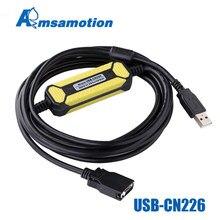 USB CN226 Amsamotion Ontwerp Economische Kabel Geschikt Omron Cs Cj CQM1H CPM2C Serie Plc programmering Kabel Downloaden Lijn