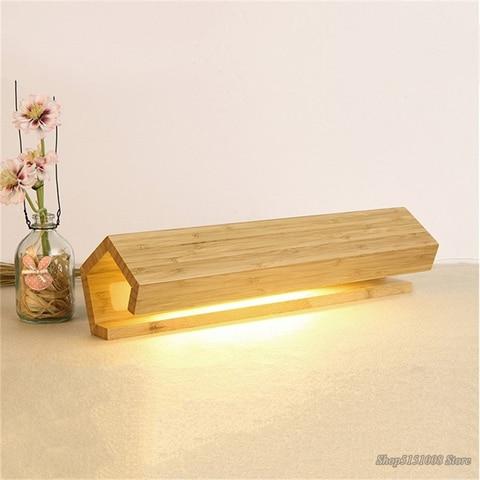 simples de madeira led candeeiros mesa