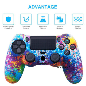 Image 2 - IVYUEEN 25 Colors For Sony PlayStation 4 PS4 Pro Slim Controller Silicone Protective Skin Cases Thumb Grips Joystick Caps Cover
