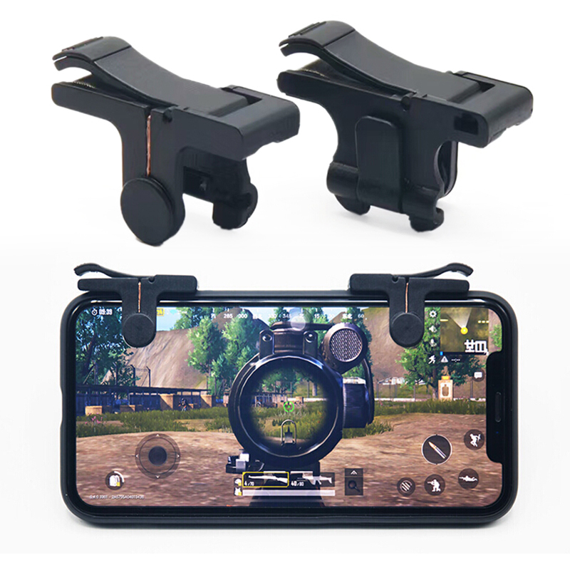 2PCS C9 Mobile Phone Gaming Trigger L1R1 Shooter Controller For PUBG Knives Out Rules Of Survival Controller Shooter Fire Button